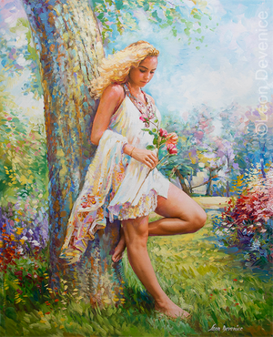 Summer Blossom — Oil Painting on Canvas by Leon Devenice