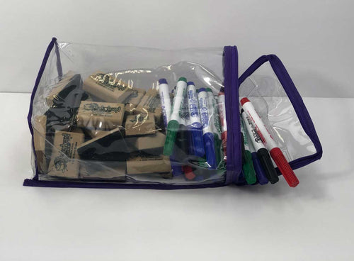 ACCESSORY KIT - Markers and Erasers w/ Storage Bag - AK - $1 per student