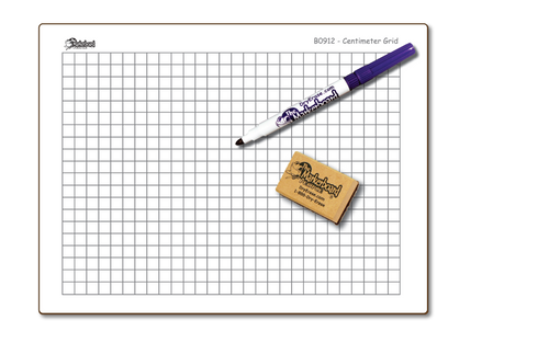 CENTIMETER GRAPH GRID DOUBLE SIDED DRY ERASE,  9