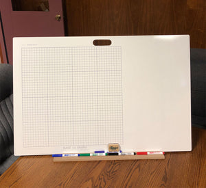 "BASE 10 GRID DOUBLE SIDED DRY ERASE,  24"" x 36"" Student Whiteboards - B2436-2x-H - $27 each"