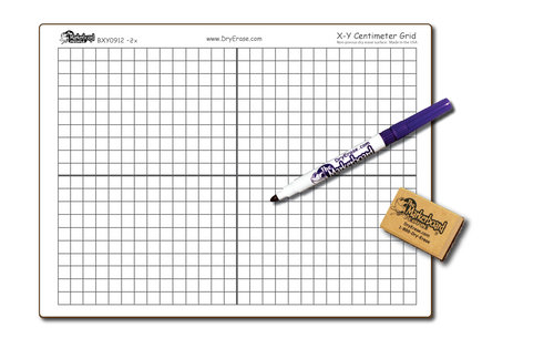 X-Y CENTIMETER GRAPH DOUBLE SIDED DRY ERASE,  9