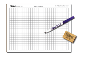 "Bargain Bin - X-Y CENTIMETER GRAPH DOUBLE SIDED,  9"" x 12"" Student Whiteboards - $1.99 each - BXYC0912-2x-E"