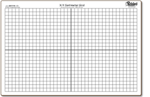 X/Y Centimeter Graph BOARDS ONLY - BXY1116-2x