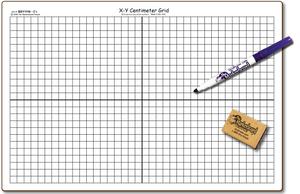 "X-Y CENTIMETER GRAPH DOUBLE SIDED DRY ERASE,  11"" x 16"" Student Response Boards - BXYC1116-2x"