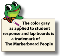 "LINED DOUBLE SIDED DRY ERASE,  11"" x 16"" Student Response Boards - LC1116-2x"