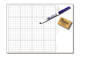 "GRAPHBOARD DOUBLE SIDED DRY ERASE,  9"" x 12"" Student Whiteboards - GC0912-2x"