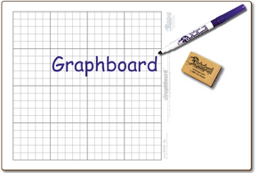 "Bargain Bin - 11"" x 16"" DOUBLE-SIDED GRAPHBOARD-#1 with ALGEBRA I and GEOMETRY - $3.99 each - GC1116-2x-E"
