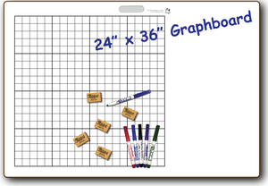 "GRAPHBOARD DOUBLE SIDED DRY ERASE,  24"" x 36"" Student Whiteboards - G2436-2x-H - $27 each"