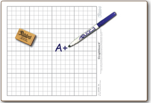 "11"" x 16"" DOUBLE-SIDED GRAPHBOARD-#1 with ALGEBRA I and GEOMETRY - GC1116-2x"