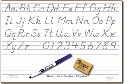 D'NEALIAN HANDWRITING PRACTICE DOUBLE SIDED DRY ERASE,  11
