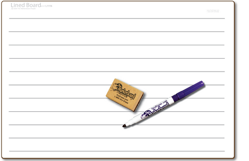 LINED DOUBLE SIDED DRY ERASE,  11