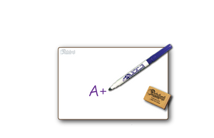 "Bargain Bin -DOUBLE SIDED  6"" x 9"" Student Whiteboards - 89¢ each - MC0609-2x-E"
