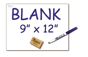 "Bargain Bin - DOUBLE SIDED 9"" x 12"" Student Whiteboards - 99¢ each - MC0912-2x-E"