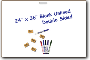 SMALL GROUP BOARDS DOUBLE SIDED DRY ERASE - with built in Handle