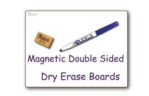 "BLANK UNLINED MAGNETIC DOUBLE SIDED DRY ERASE, __  9"" x 12"" Student Response Board - MAGC0912-2x"