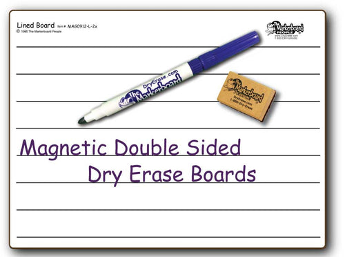 LINED MAGNETIC DOUBLE SIDED DRY ERASE,  9