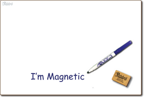 "BLANK UNLINED MAGNETIC DOUBLE SIDED DRY ERASE, __  11"" x 16"" Student Response Board - MAGC1116-2x"