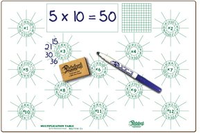 "MULTIPLICATION DOUBLE SIDED DRY ERASE,  11"" x 16"" Student Response Boards - MULTC1116-2x"
