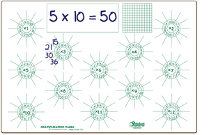 MULTIPLICATION FACTS - BOARDS ONLY - MULT1116-2x