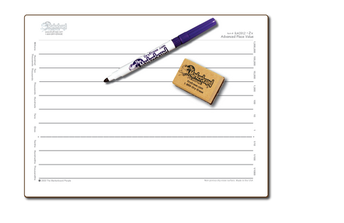 ADVANCED PLACE VALUE DOUBLE SIDED DRY ERASE,  9