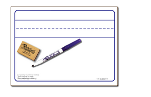 "PRIMARY HANDWRITING DOUBLE SIDED DRY ERASE,  9"" x 12"" Student Whiteboards - SC0912-2x"