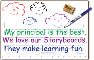 "11"" X 16"" DOUBLE SIDED STORYBOARD,     - Best Seller for 1st and 2nd Grades - SC1116-2x"
