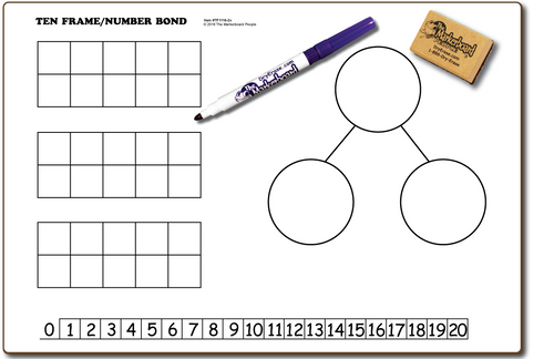 TEN FRAMES / NUMBER BOND DOUBLE SIDED DRY ERASE,  11
