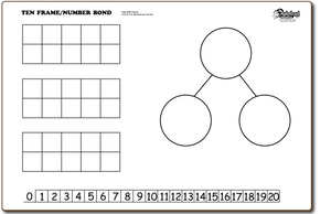 Ten frames / Number Bond - BOARDS ONLY - TF1116-2x