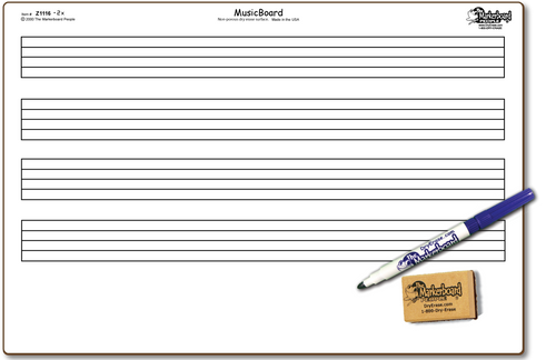 MUSIC DOUBLE SIDED DRY ERASE,  11