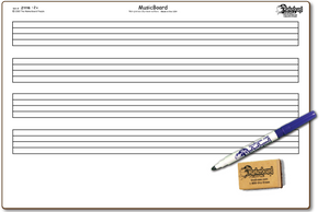 "MUSIC DOUBLE SIDED DRY ERASE,  11"" x 16"" Student Response Boards - ZC1116-2x"