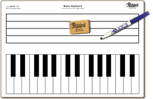 "MUSIC KEYBOARD DOUBLE SIDED DRY ERASE,  11"" x 16"" Student Response Boards - ZKC1116-2x"