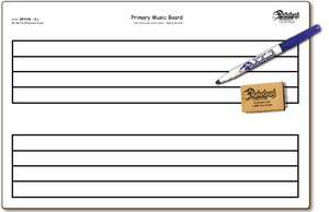 "PRIMARY MUSIC DOUBLE SIDED DRY ERASE,  11"" x 16"" Student Response Boards - ZPC1116-2x"