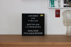 "008: ""HERBERT VON KARAJAN BEETHOVEN 9 SYMPHONIES"" LP box set (Artwork by Gregor Hildebrandt)"