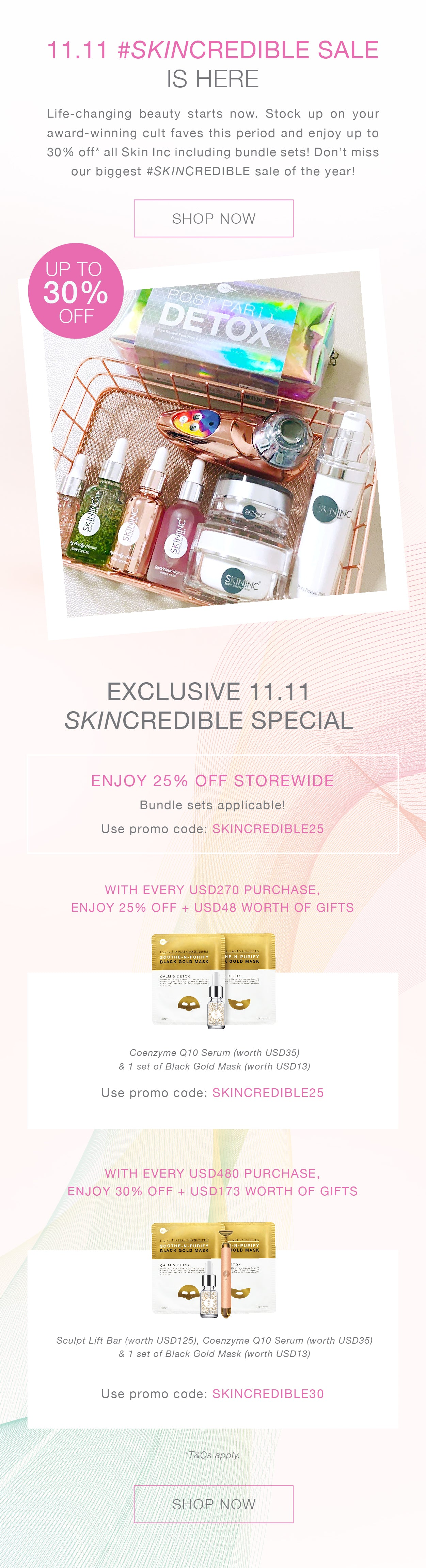 11.11 Skincredible sale 2