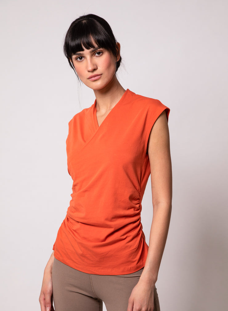 Megha-RUCHED WRAP TOP
