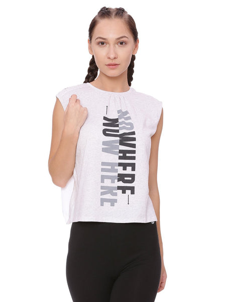 WOMENS ORGANIC COTTON TYPO TOP - CRISS COSS TOP - mysoulspace.in