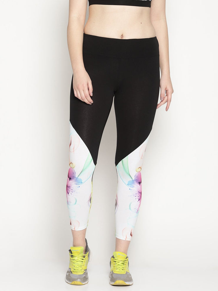 WOMENS ORGANIC COTTON TIGHTS- ABSTRACT FLOW - mysoulspace.in