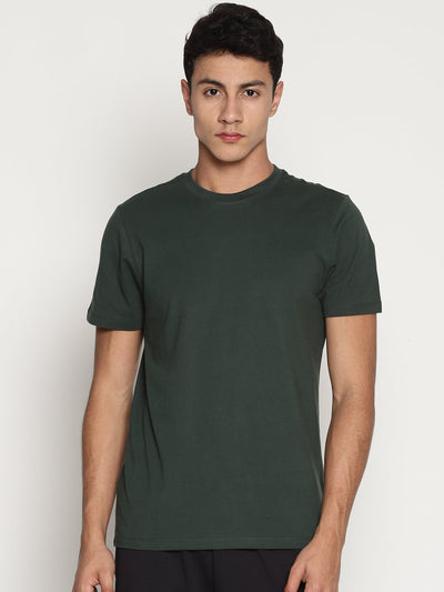 Men's Organic Cotton Solid Round Neck Tee - Alpha Tee - mysoulspace.in