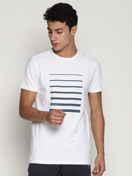 Men's Organic Cotton  Printed Round Neck Tee - Ray Tee