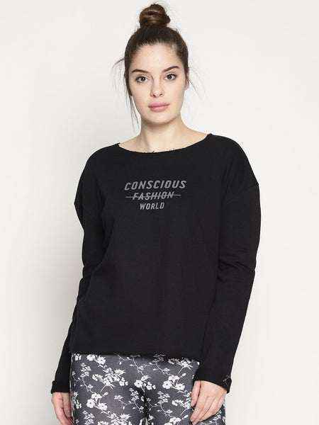 WOMENS ORGANIC COTTON SWEATSHIRT - CONSCIOUS SWEAT