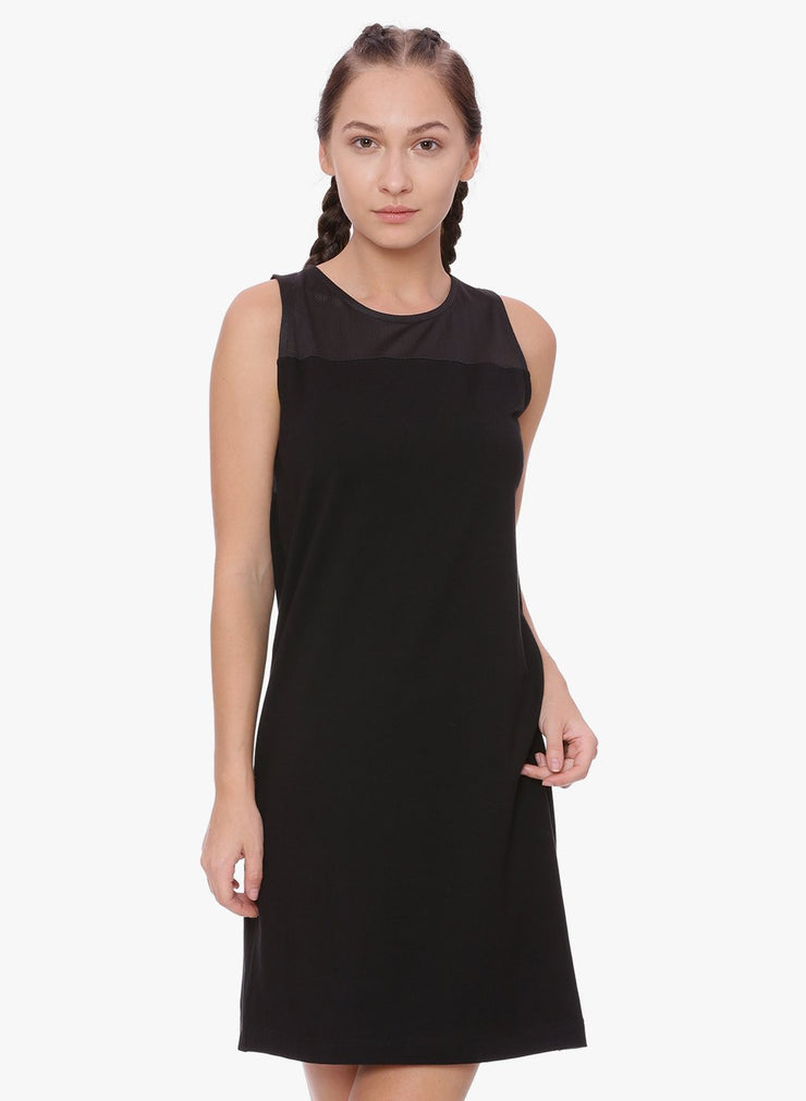 WOMENS ORGANIC COTTON MESH DRESS - ECLIPSE DRESS - mysoulspace.in