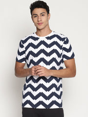 Men's Organic Cotton  Printed Round Neck Tee - Morph Tee - mysoulspace.in