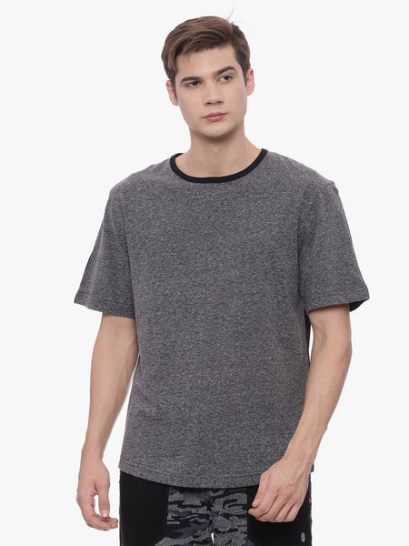 MENS ORGANIC COTTON COLOR-BLOCKED VOLUME TEE - SPUNK TEE - mysoulspace.in