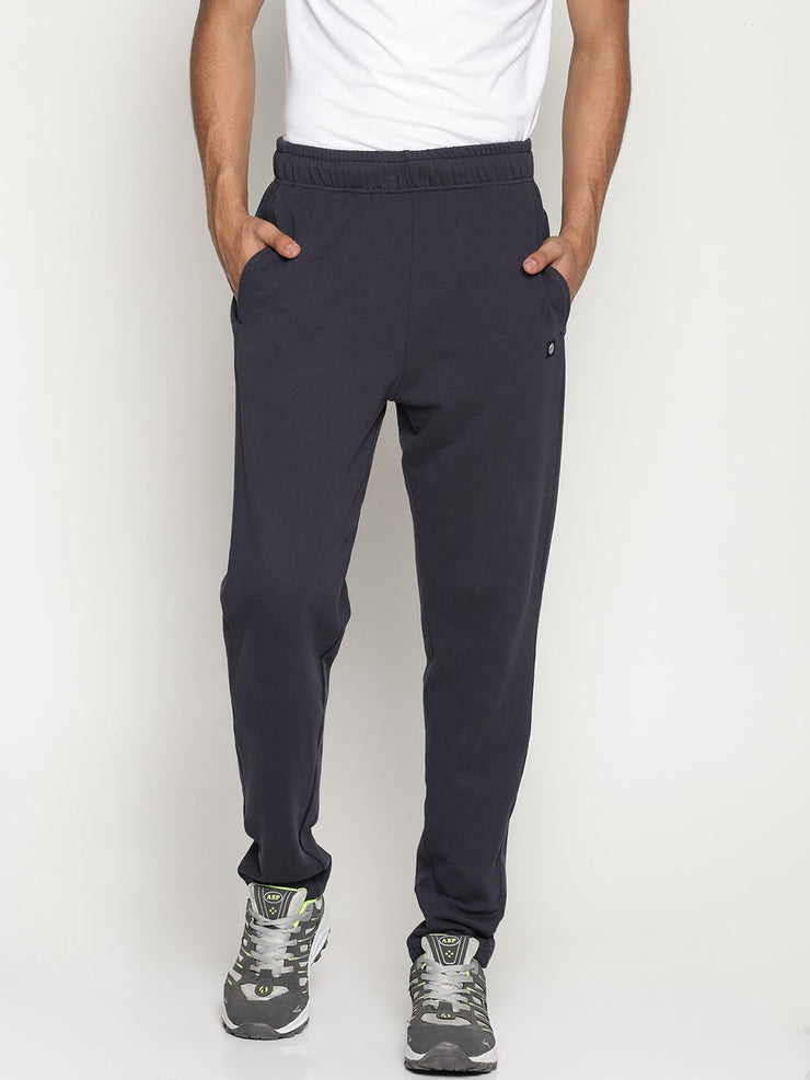 Men's Essentials Organic Cotton French Terry Relaxed Fit Joggers - Volt Joggers - mysoulspace.in