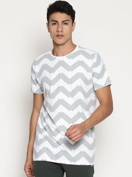 Men's Organic Cotton  Printed Round Neck Tee - Morph Tee