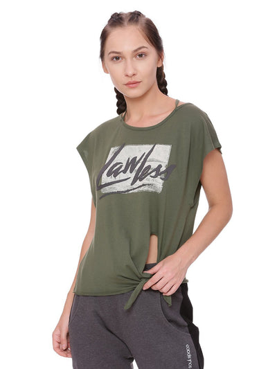 WOMENS ORGANIC COTTON CROP TEE - KNOT A TEE - mysoulspace.in