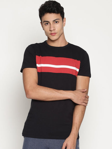 Men's Organic Cotton  Printed Round Neck Tee - Watt Tee