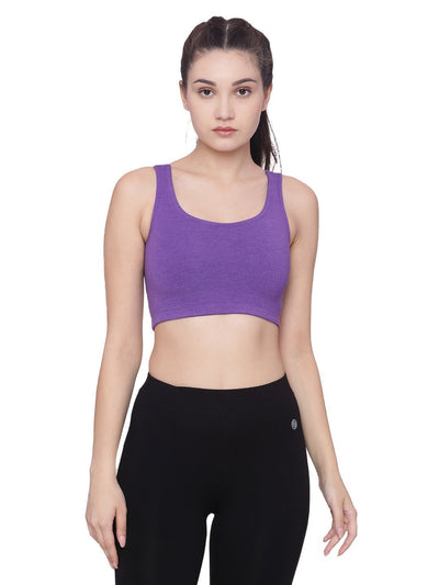 WOMENS ORGANIC COTTON PADDED SPORTS BRA-STRAPPY BRA - mysoulspace.in