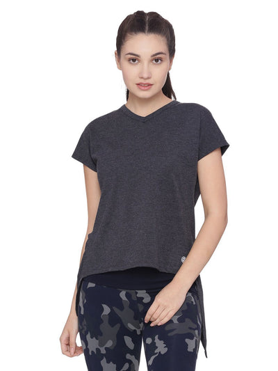 Womens Organic Cotton Top- Overlap Top - mysoulspace.in
