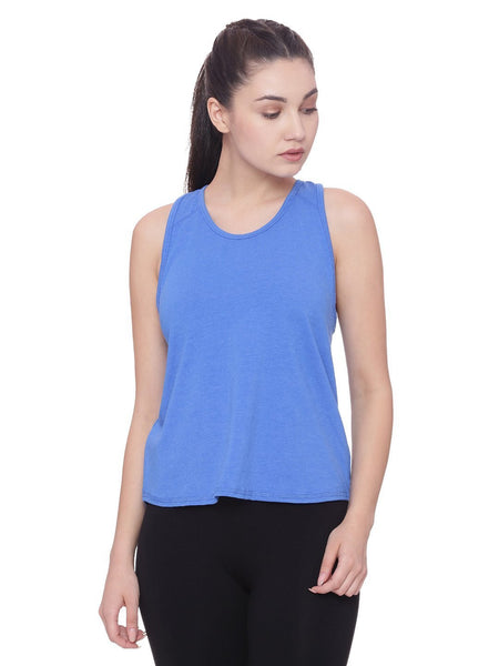 Womens Organic Cotton Tank Top-Overlap Tank - mysoulspace.in